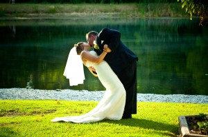 Lakeside Wedding Photo at Chantilly Country