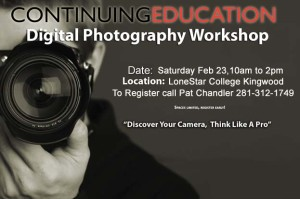 Learn digital photography flyer